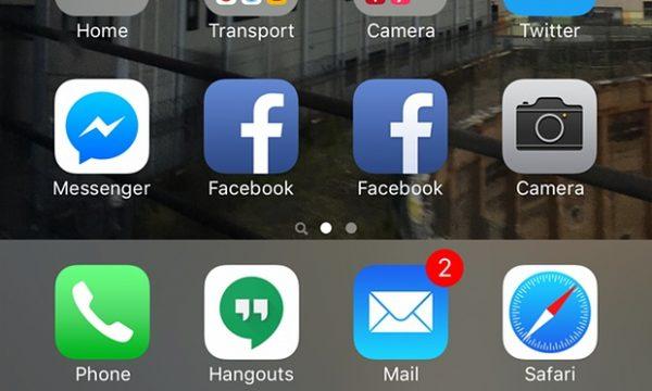 Tak wygląda ikona witryny mobilnej Facebook oraz aplikacji - widzisz różnicę?
