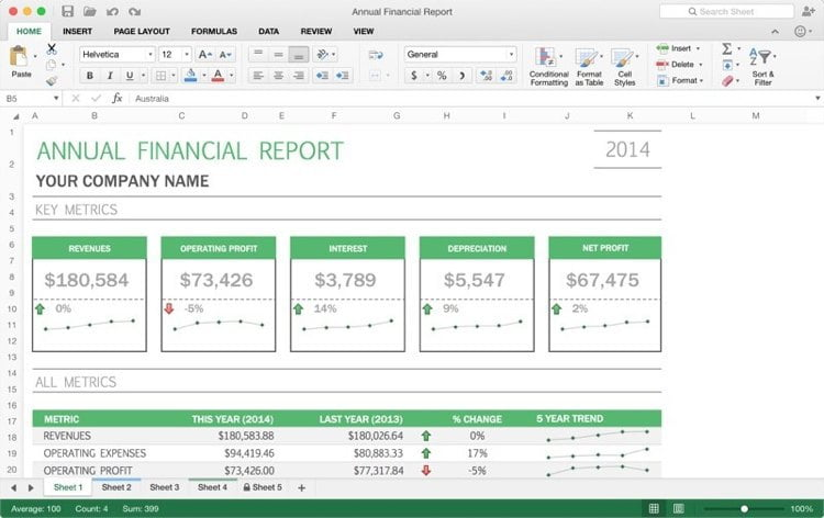 Office 2015 Excel