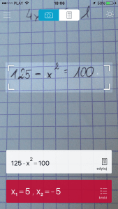 ... czy może bardziej skomplikowane równanie kwadratowe