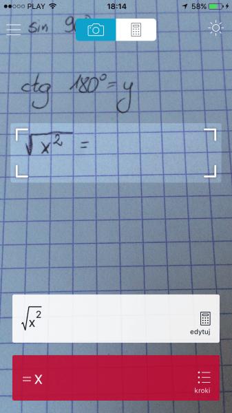 Na pierwszy rzut oka wszystko wydaje się być w jak najlepszym porządku... tymczasem rozwiązaniem tego równania jest  x 